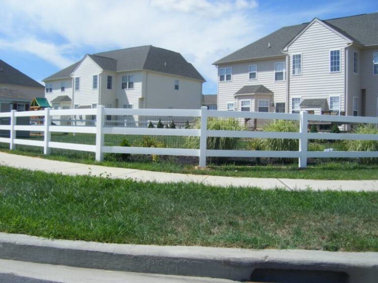 Post  Rail Maintenance Free Vinyl Horse Fencing-Discount Fence Supply